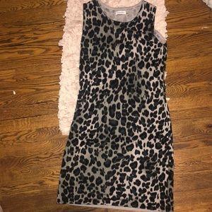 animal print calvin klein dress